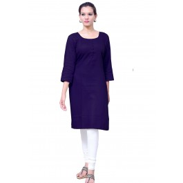 Charu Boutique NAVY BLUE  Formal Solid Women's Kurta