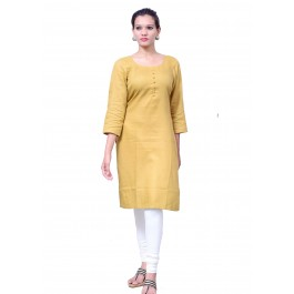 Charu Boutique BEIGE  Formal Solid Women's Kurta
