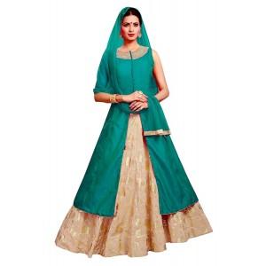 Charu Boutique Designer Partywear Stitched Silk Lehenga Suit