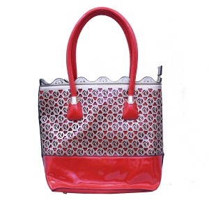 Red & Silver Women's Handbag