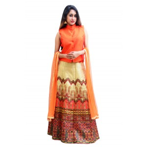 Charu Boutique Designer Top Lehenga Skirt & Dupatta Set