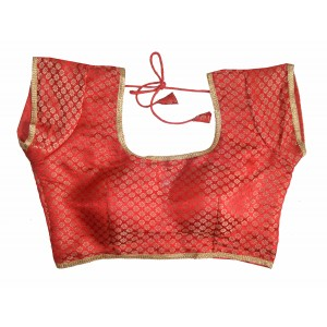 Charu Boutique Designer Readymade Brocade Saree Blouse