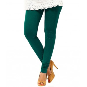 Green Women's Cotton Leggings