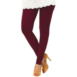Burgundy Cotton Leggings