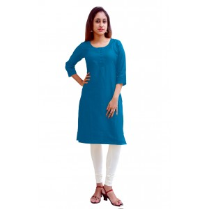 Charu Boutique BLUE  Formal Solid Women's Kurta