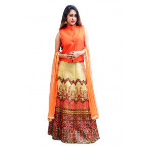 Charu Boutique Designer Top Lehenga Skirt & Dupatta Set
