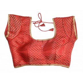 Charu Boutique Designer Readymade Brocade Saree Blouse