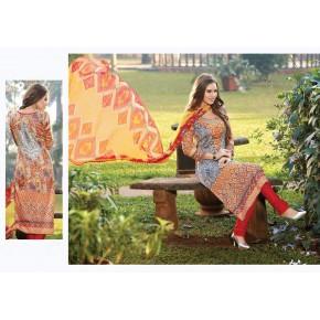 Charu Boutique Glaze Cotton Printed Unstitched Dress Material