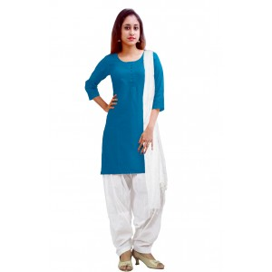 Charu Boutique Readymade Formal Women's Cotton Patiyala Salwar Suit Set