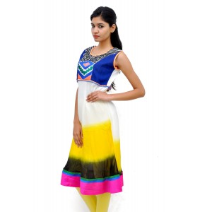 Multi Colour Pure Georgette Kurti