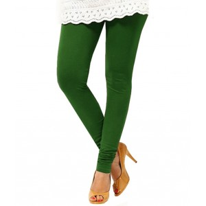 Bottle Green Cotton Leggings