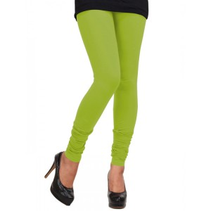 Women's lime Cotton Leggings