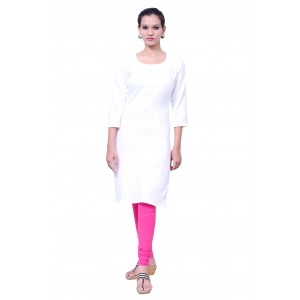 Charu Boutique WHITE  Formal Solid Women's Kurta