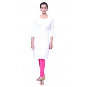 Charu Boutique WHITE  Formal Solid Women's Kurta