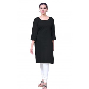 Charu Boutique BLACK  Formal Solid Women's Kurta
