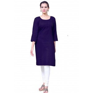 Charu Boutique NAVY BLUE  Formal Solid Women's Kurta