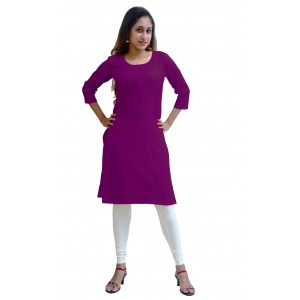 Charu Boutique PURPLE  Formal Solid Women's Kurta
