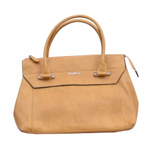 Charu Boutique Premium leather Handbag for Women Tan
