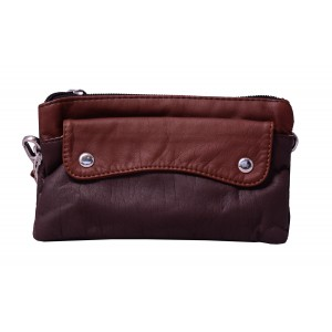Soft Leather Pouch/Wallet for Women's & Girl's  Violet