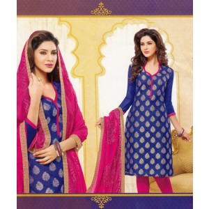 Blue Rani Cotton Dress Material