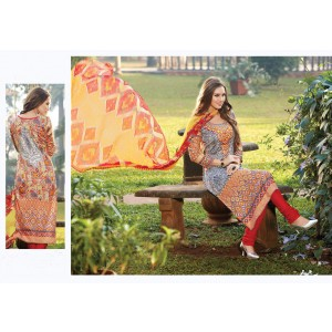 Charu Boutique Glaze Cotton Printed Unstitched Dress Material